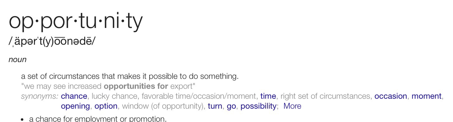 What Opportunity Looks Like - Bobby Shaw Consulting